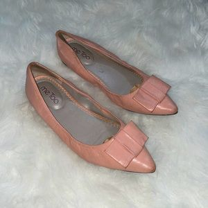Me Too Bow Leather Flats